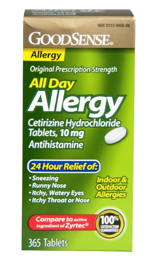 Good Sense Cetirizine HCL Antihistamine Tablets, 10 mg 365 Count