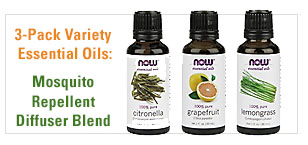 3-Pack Variety Essential Oils: Mosquito Repellent Blend - Citronella, Lemongrass, Grapefruit